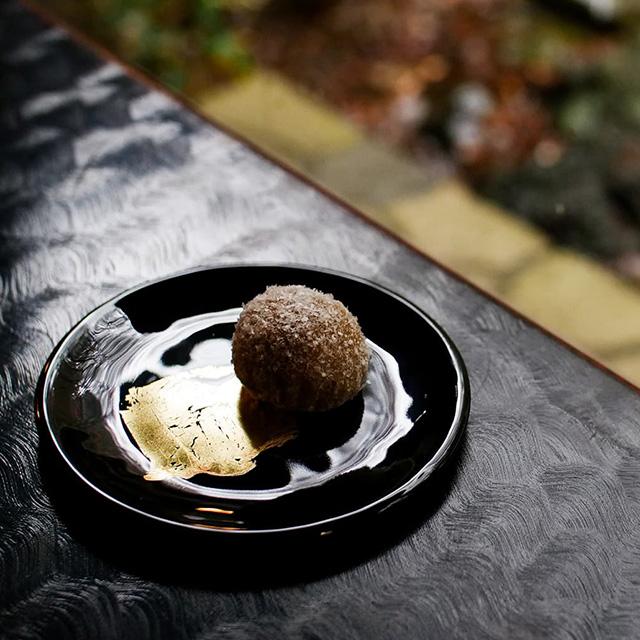 和菓子とガラス